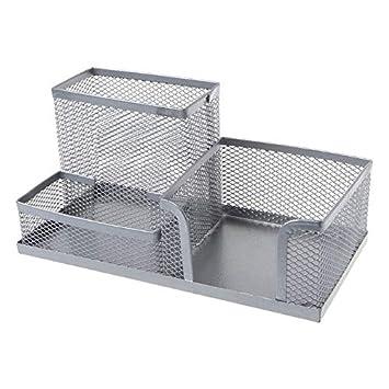Caja de almacenamiento de metal para lápices, para casa, oficina, estudiante, accesorios, libertad S: Amazon.es: Oficina y papelería