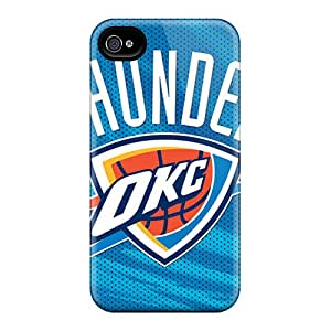 Bumper Hard Cell-phone Case For Iphone 4/4s With Support Your Personal Customized Colorful Oklahoma City Thunder Series IanJoeyPatricia