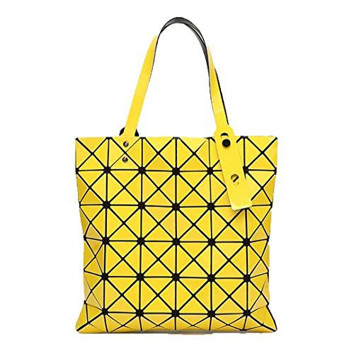Plis À Sac Yellow Fourre Décontracté Femme Féminin Pink Lumineux Pour Plié tout Géométrique Main XCBnxC