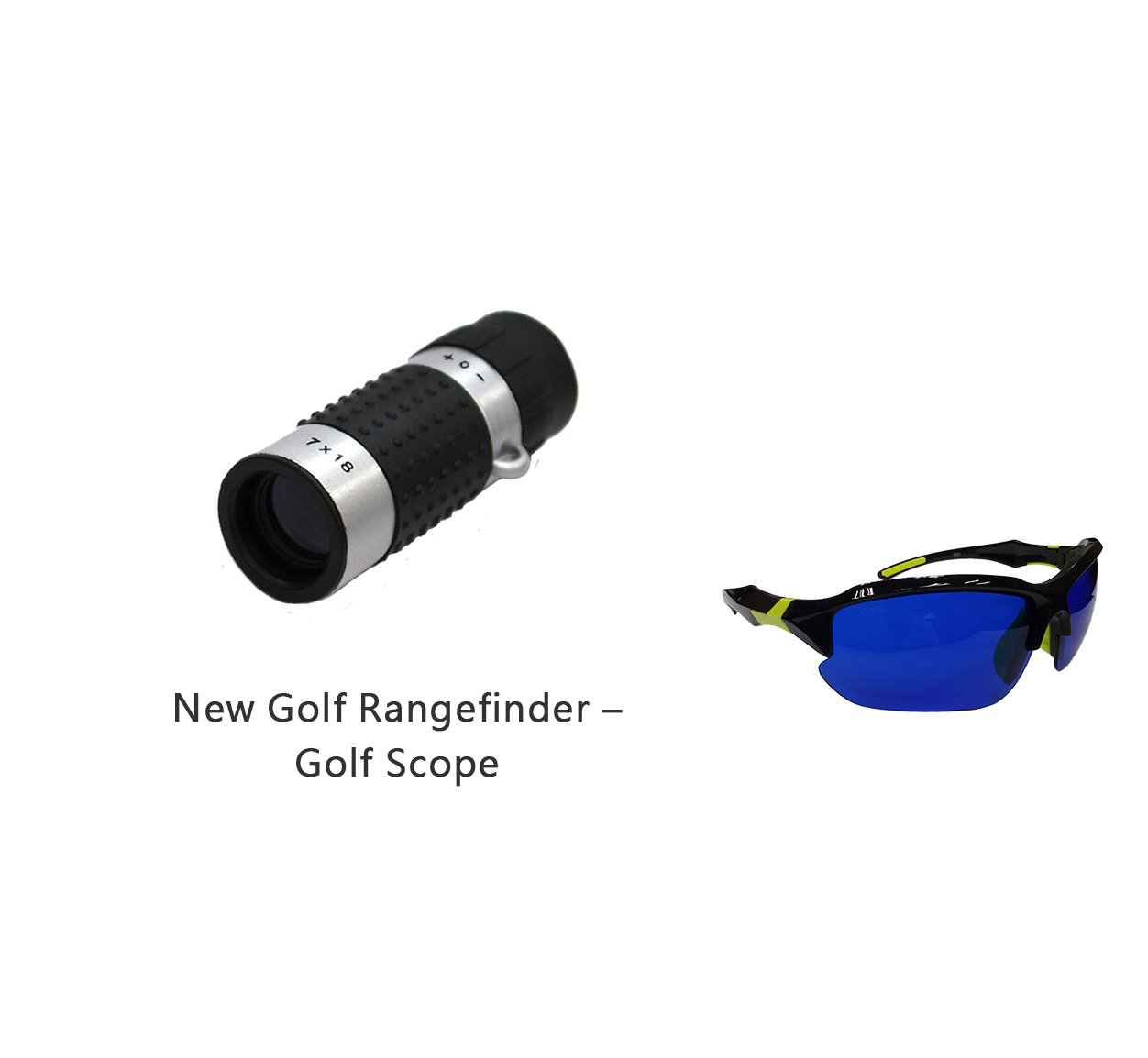 Posma GF100D Bundle set Golf Rangefinder High Definition Mini Monocular Pocket Scope + Golf Ball Finder Hunter Retriever Glasses
