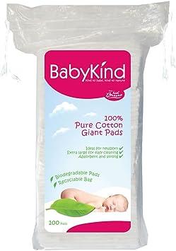 BabyKind Discos de algodón de tamaño extragrande, Pack de 6 x 100 ...