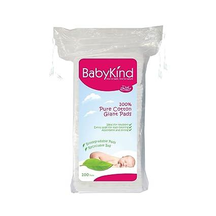BabyKind Discos de algodón de tamaño extragrande, Pack de 6 x 100 unidades