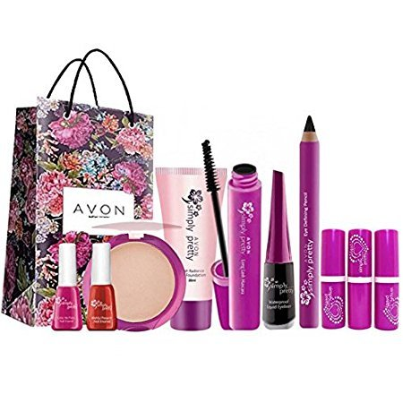 76245bfa046 Avon Simply Pretty Complete Beauty Set (10 pc) with gift bag: Amazon.in:  Beauty