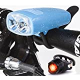 Bike Light USB Rechargeable - Cycle Torch Night Owl, Perfect Urban Commuter Bicycle Light Set - Bright TAIL LIGHT Included - Compatible with Mountain, Road ,Kids & City Bicycles, Increase Safety & Visibility