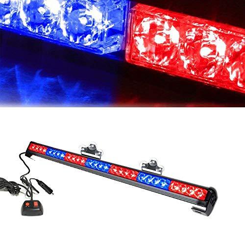 Oglight 31.5 28 LED Emergency Strobe Deck Grille Police Strobe Warning Light for Ambulance/Traffic/Police/Fire Fighter/Car/Truck(Red/Blue)