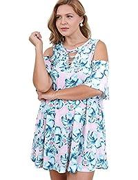 6b09cb62144 Bohemian Floral Cold Shoulder Criss Cross Dress Reg   Plus Size