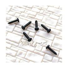 300 pcs 1.4mm x 12mm miniature Self Tapping Track Screws Mini Tiny Black Screws