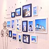 Simple living room photo wall / restaurant photo frame wall combination / European children's room photo wall 15 box 210 90cm ( Color : Black and white )