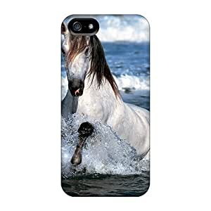 Case For Iphone 6 Plus 5.5 Inch Cover Fashion Design White Horse Case-CLX1857nXTi