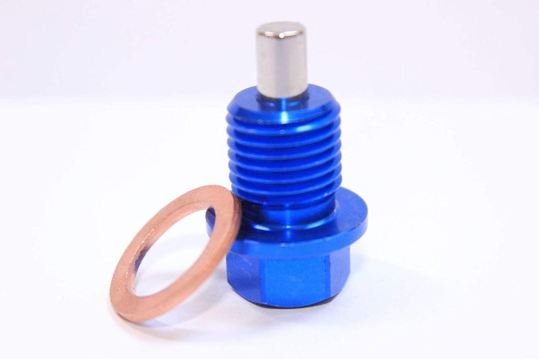 Magnetic Sump Plug /& Crush Washer Impreza M20 x 1.5 WRX Blue