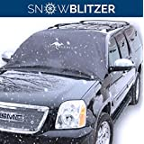Car Windshield Cover for Winter Snow Removal- Magnetic Snow, Ice and Frost Guard - Fits SUV, Truck & Car Windshields - Auto Windshield Snow Cover - Large - Great Barrier (Outback Shades)