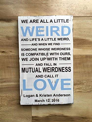 Amazoncom Adonis554dan Weird Personalized Wood Sign Dr Seuss Quote
