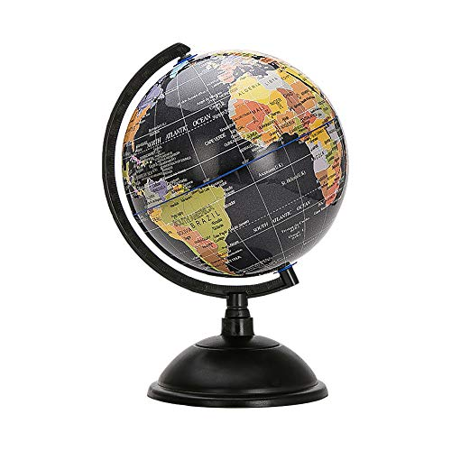 (World Globe Swivel and Tilt on Stand with Plastic Base for Children Geographic Teaching Educational 20cm)