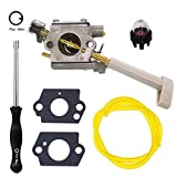 FitBest Carburetor 308054079 for Ryobi RY08420 RY08420A Backpack Blower Carb With Adjustment Tool Fuel Line Kit