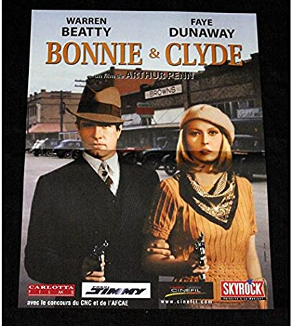 BONNIE & CLYDE Póster de película, 40 x 60, Arthur R2000 Penn ...