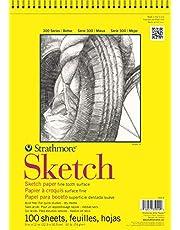 "Strathmore (350-9 300 Series Sketch Pad, 9""x12"", 100 Sheets"