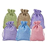 Wuligirl 30PCS Burlap Bags 4X6 with Drawstring and Cotton Lining Jewelry Pouches Sacks Bag for Wedding Favors, Party, DIY Craft(Burlap Blend)