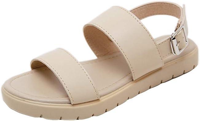 Sandales Dames iZZB Tendance Filles Chaussures Rome Plates E9H2DIWY