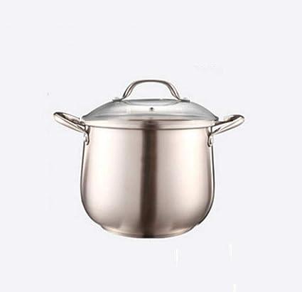Olla de sopa Olla de sopa de acero inoxidable de 24 cm Olla ...