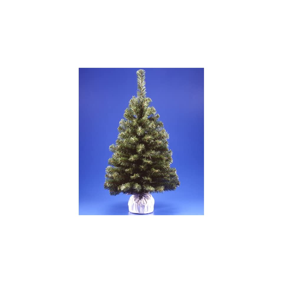 3 Noble Blue Spruce Artificial Christmas Tree In Silver Bag
