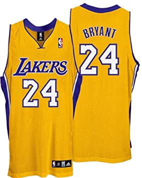 7adb1312a619 adidas Kobe Bryant  24 Los Angeles Lakers Authentic NBA Jersey Gold XL  (48)  Amazon.co.uk  Clothing