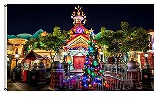 Flylife grande bandera feliz Navidad bandera color Navidad 3'x5' Banner 110905