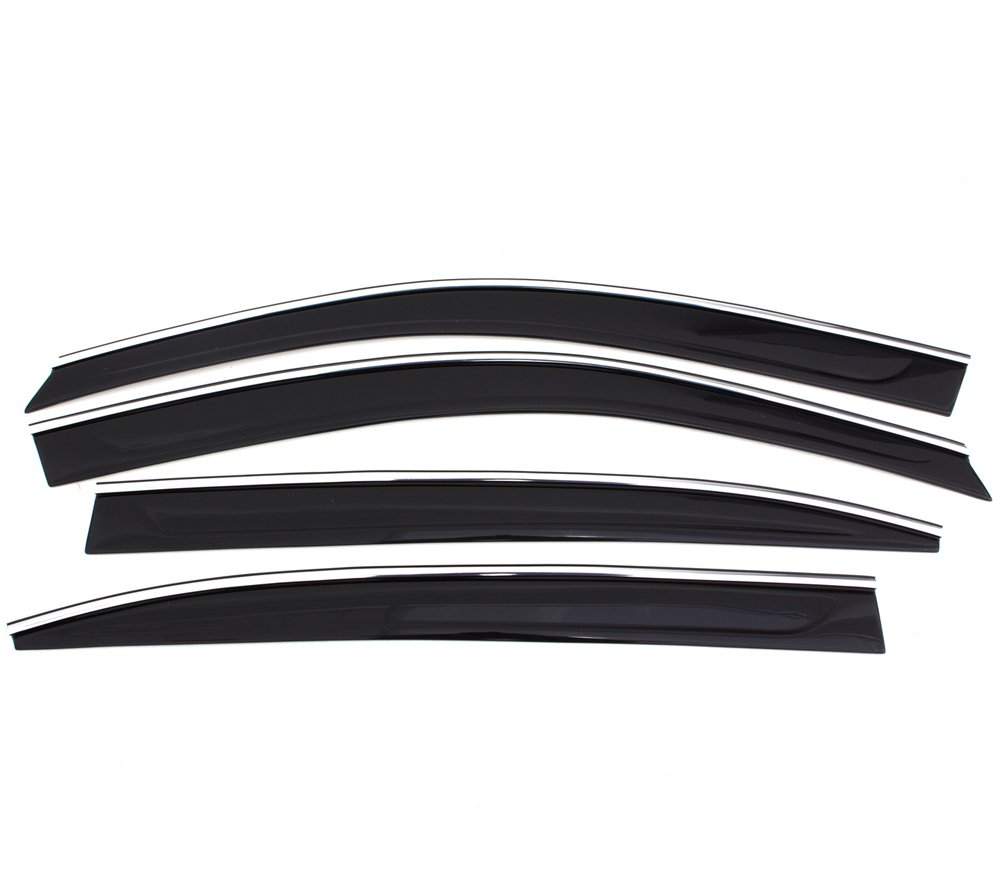Auto Ventshade 794002 Low Profile Ventvisor Side Window Deflector with Chrome Trim 4-Piece Set for 2007-2011 Toyota Camry