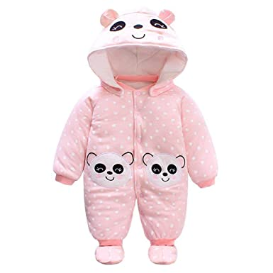 92423b15c47f Hellohouse Baby Rompers Footies Hat Boys Girls Hooded Jumpsuit Infant  Winter Outfits Set 0-12 Months: Amazon.co.uk: Clothing