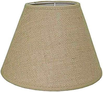 Better & Best Pantalla de lámpara de yute, de 45 cm, lisa, color natural, Topo: Amazon.es: Iluminación