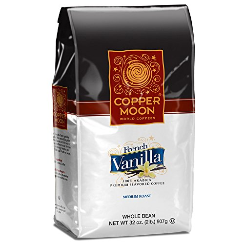 Copper Moon Whole Bean Coffee French Vanilla 2 Pound Whole Bean Medium Roast Small Batch Coffee Blended with the Sweet Taste of Vanilla Lusciously Smooth 100% Arabica