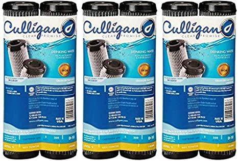 D-10A Тwо Расk Gray Culligan D-10A 2PK Carb Filtration Replacement Cartridge