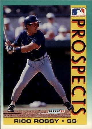 Amazoncom 1992 Fleer Baseball Card 676 Rico Rossy Near