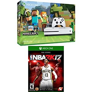 Xbox One S 500GB Console - Minecraft Bundle and NBA 2K17