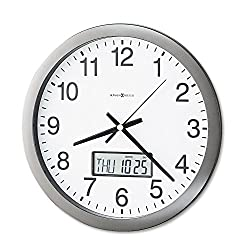 MIL625195 - Howard Miller Chronicle Wall Clock with LCD Inset