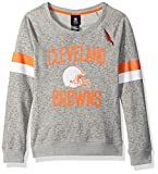 Outerstuff NFL Girls 7-16″My City Long Sleeve Boatneck Pullover Sweatshirt-Heather Grey-M(10-12), Cleveland Browns