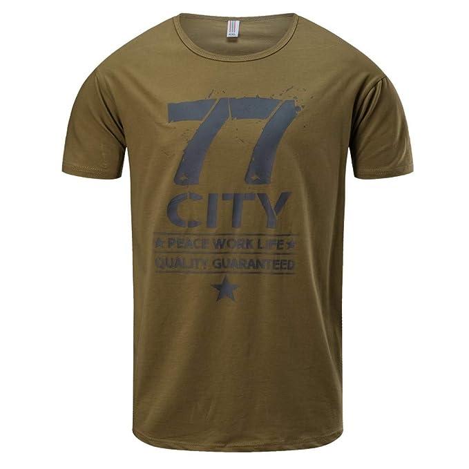 MVPKK Camisetas Manga Corta para Hombre - Camisetas Básicas en Imprimiendo Número Camiseta para Hombre Talla Grande Ropa Deportiva tee Shirt de Algodón Ocio ...