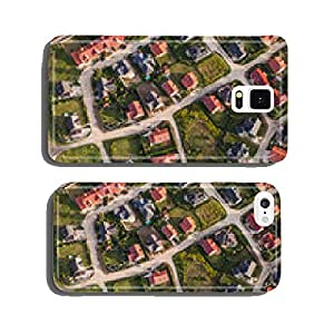 aerial view of Nysa town suburbs in Poland cell phone cover case Samsung S6