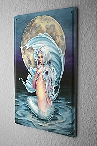 Tin Sign Selina Fenech Fairies Fantasy art goddess mermaid moon before 20x30 cm metal shield Wall Art Deco decoration retro Advertising Vintage