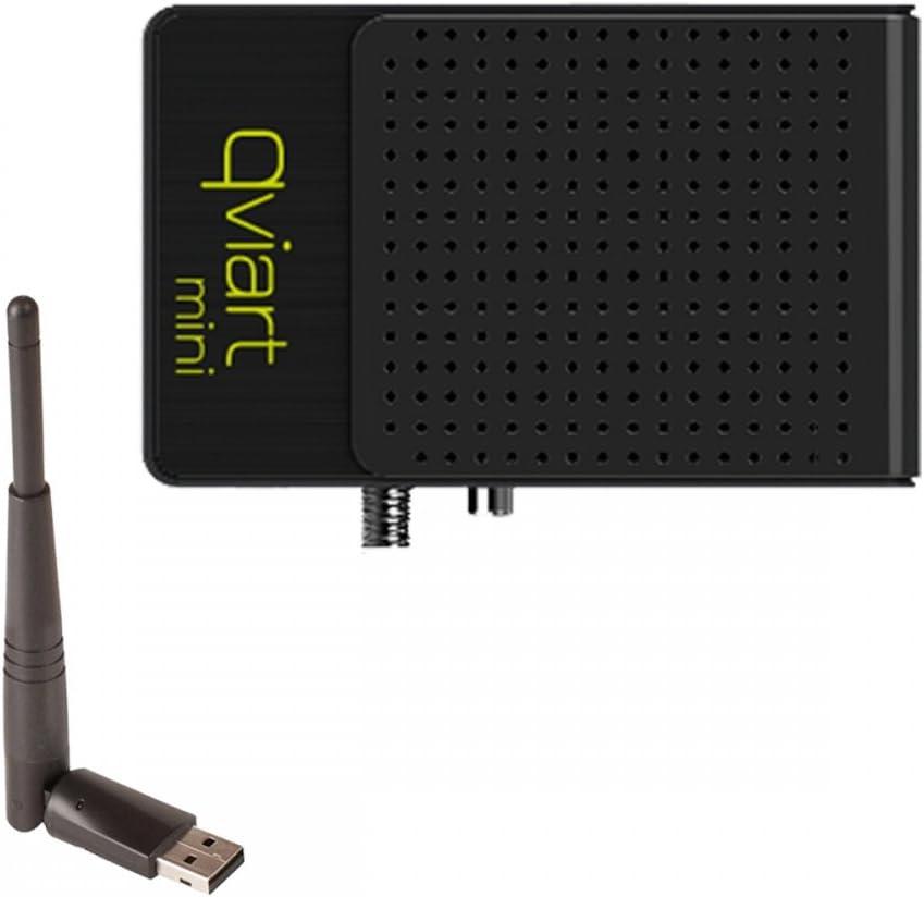 Qviart Mini Receptor de satélite Full HD negro + WLAN Stick ...