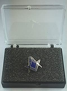 Masonic Cut Out Crest without G Silver Enamel Lapel Pin Badge In Gift Box
