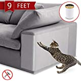 Anti-Scratch Cat Tape - 250% Wider, 8 Inches x 9 feet - Cat Scratch Prevention, Training and Deterrent Tape for…