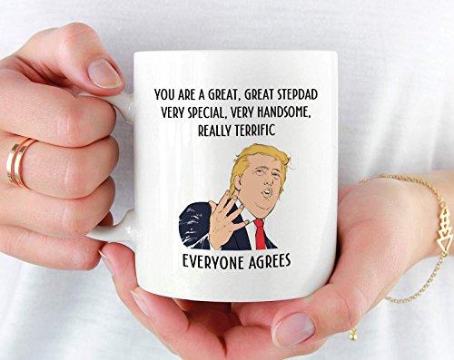 Stepfather Mug, Funny Trump Fathers Day Mug for Step Dad, Fathers Day Gift for StepDad, Bonus Dad, Stepdad Fathers Day Trump, Step Dad Gift