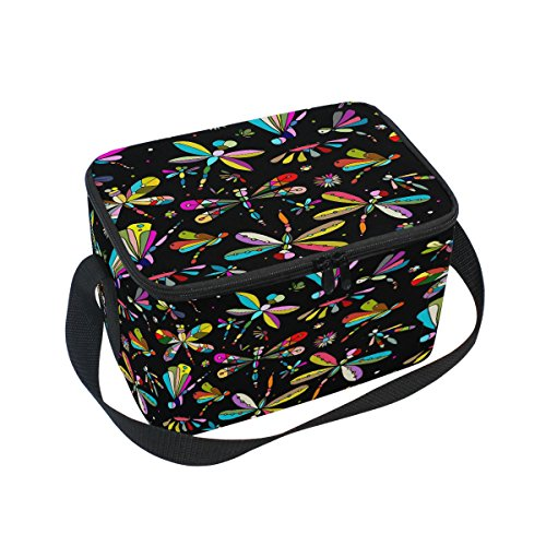 ALAZA Dragonfly Insulated Lunch Bag Box Cooler Bag Reusable