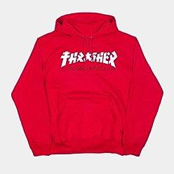 Thrasher Godzilla Hoodie Red M