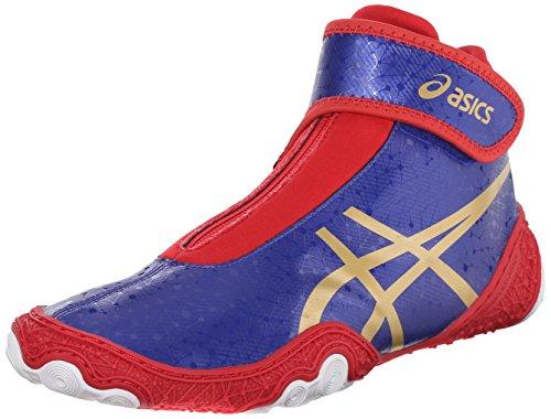 ASICS Mens Omniflex-Attack V2.0 Wrestling Shoe Asics Blue/Gold/Red