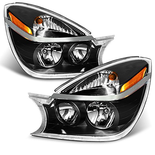 For Buick Rendezvous OE Replacement Amber Black Bezel Headlights Driver/Passenger Head Lamps Pair New Buick Rendezvous Headlight Assembly