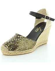 Azura Womens Lenox Buckle Cap Toe Ankle Strap Sandals