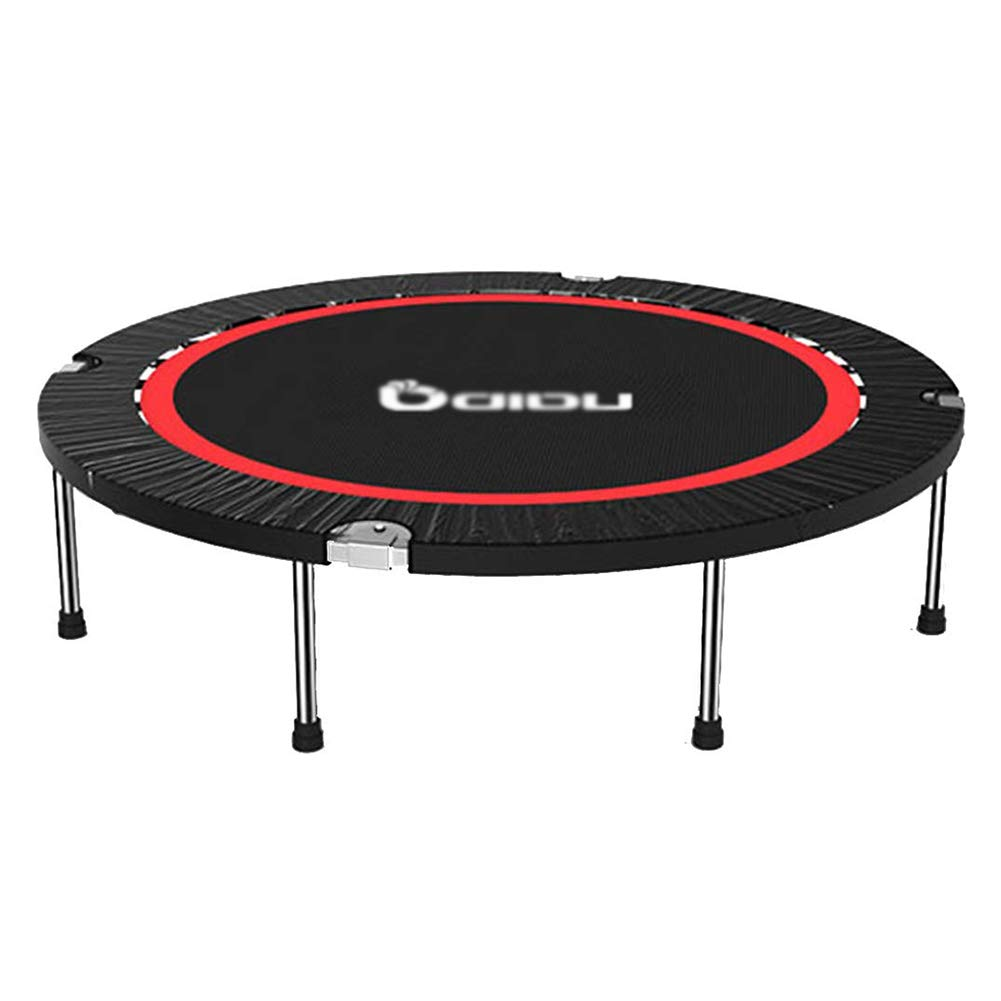 Trampolin, Indoor Klapptrampolin, 50-Zoll-Übungs-Trampolin für Kinder, Mini-Fitness-Trampolin - Max Load 300KG, Schwarz