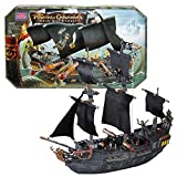 Mega Bloks Year 2006 Pirates of the Caribbean - Dead Man's Chest Series Set #1017 - BLACK PEARL with Jack Sparrow, Pintel & Will Turner Figure (Total Piece: 170)