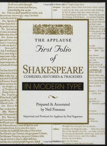 Applause First Folio of Shakespeare in Modern Type: Comedies, Histories & Tragedies (Applause First Folio Editions) by HAL LEONARD CORPORATION